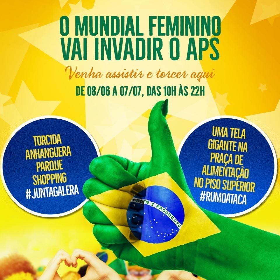 ea6bc8ab9035a8 Mundial Feminino de Futebol tem transmissão ao vivo dos jogos no Anhanguera  Parque Shopping - ABRASCE